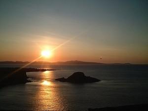 利尻島 夕陽丘公園からの夕焼け 04'6