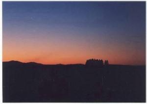 美瑛 新栄の丘の夕陽 98'7