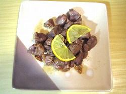 砂肝(砂ずり)のガーリックバターソテー