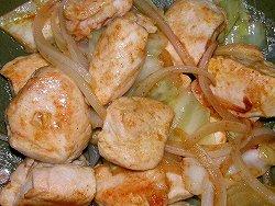 鶏ムネ肉のカレーマヨ炒め