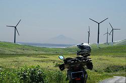 風車と利尻
