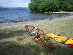 屈斜路湖でファルトボート