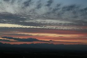 新芽室展望台からの夕陽