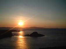利尻 夕陽丘公園からの夕日