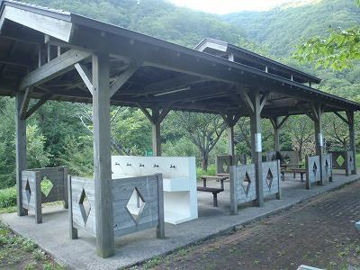 南茅部 河川公園キャンプ場 炊事場